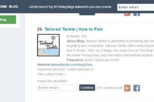 tailored tackle blog ranked 29 best fishing blogs