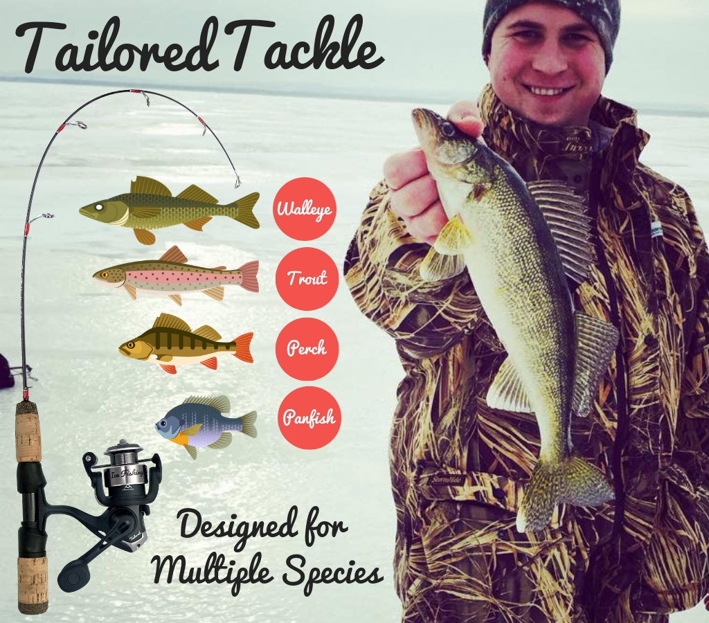 Ice Fishing Rod Reel Combo by Tailored Tackle