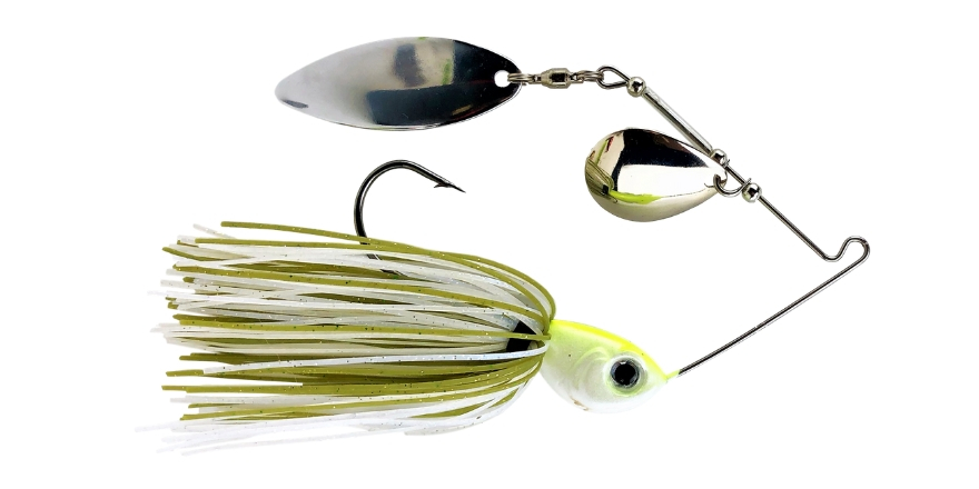 Spinnerbait Baby Bass White Green