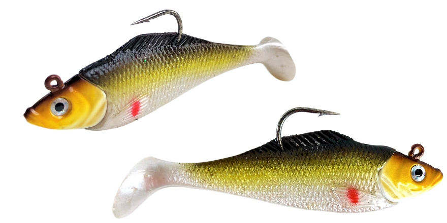 Golden Shiner Paddletail Swimbait