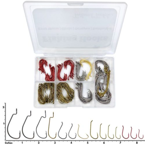Fishing Hook Kit Bass Hooks Octopus Circle Worm