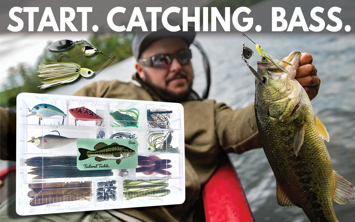 Bass Fishing Kit Book Start Catching Bass Tailored Tackle