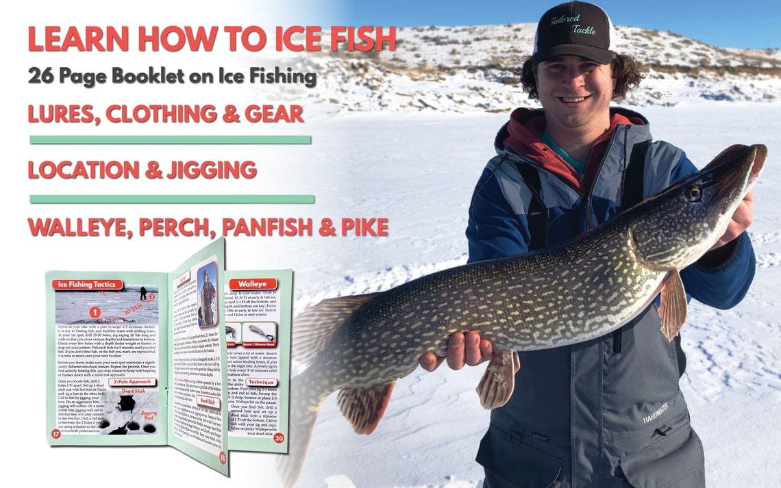 How to Ice Fishing Kit Lures Jigs Plastics Bait Book Tailored Tackle 6