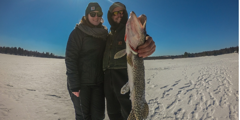 Ice Fishing Maine Northern Pike Sabattus Pond Tailored Tackle