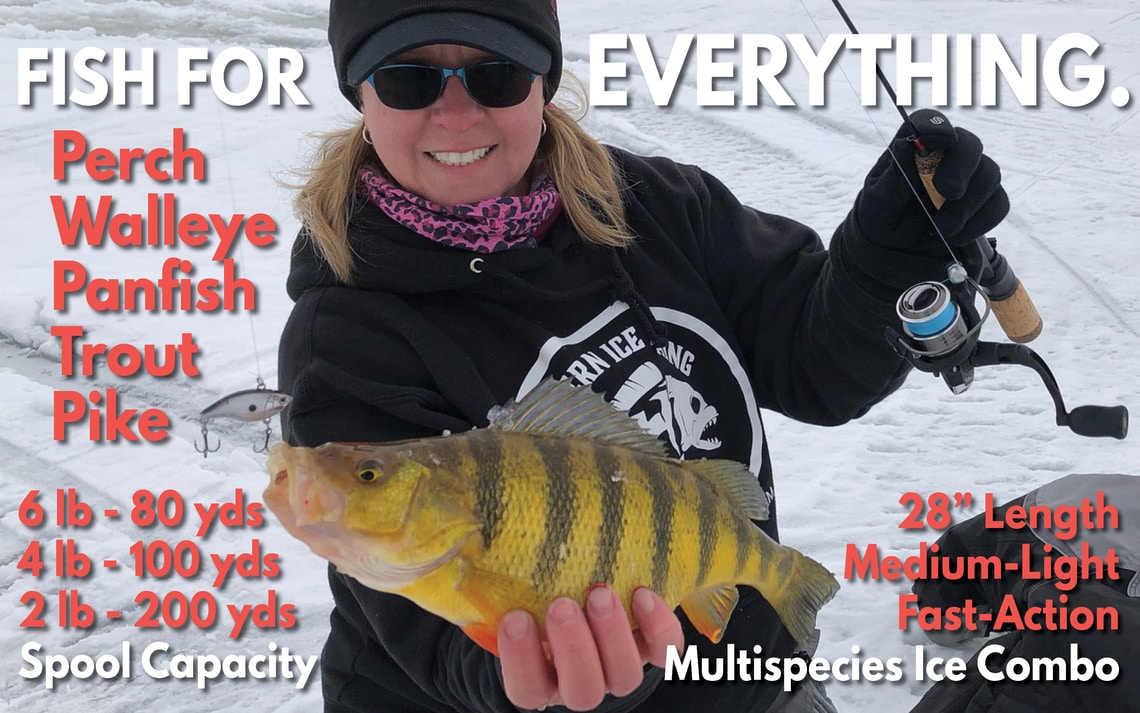 Ice Fishing Rod Reel Combo Walleye Panfish Perch Trout Pike Tailored Tackle 4