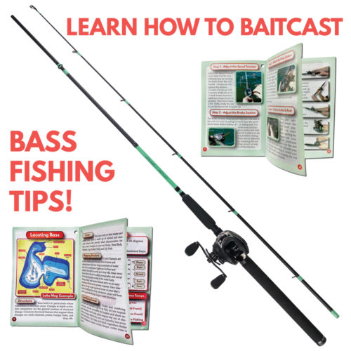 Bass Fishing Rod Reel Baitcasting Combo