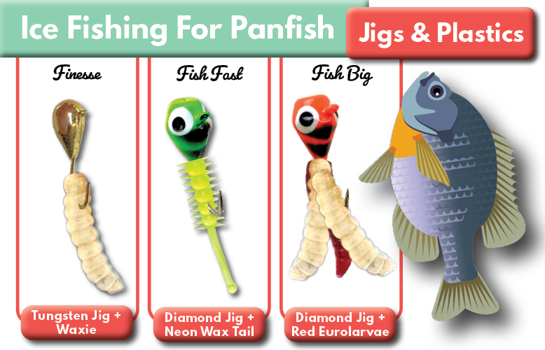 Ice Fishing for Bluegill Panfish Jigs Bait Tailored Tackle