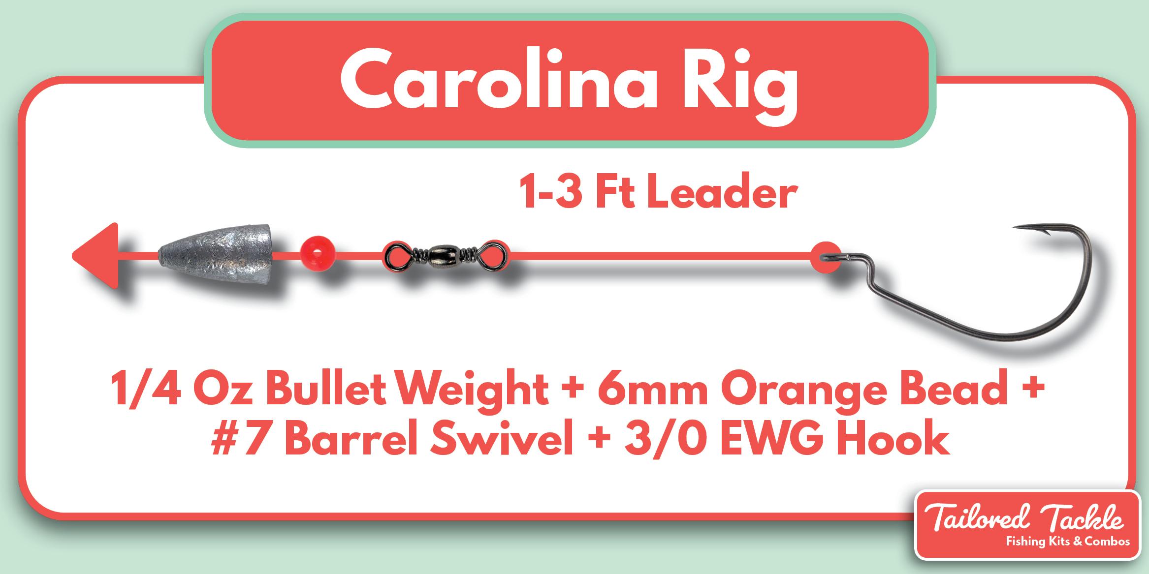 Carolina Rig Fishing Setup How to Make a Carolina Rig Tailored Tackle