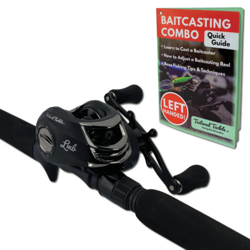 Left Baitcasting Combo Bass Fishing Rod Tailored Tackle 3