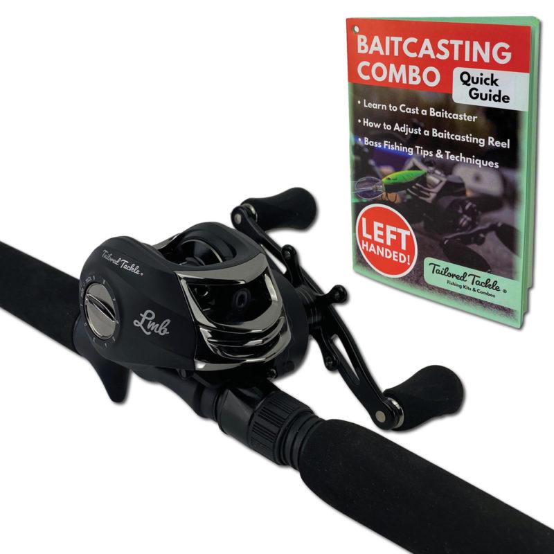 Left Baitcasting Combo Bass Fishing Rod Tailored Tackle 3