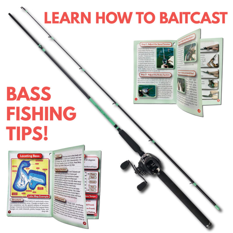 Left Bass Fishing Rod Baitcasting Combo Tailored Tackle 5
