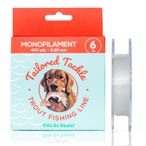 Trout Fishing Line Monofilament 6lb 400yds Spool Ultra Clear Front