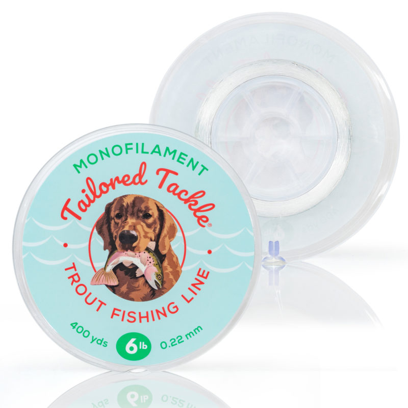 Trout Fishing Line Monofilament 6lb 400yds Spool Ultra Clear Spool Front Back