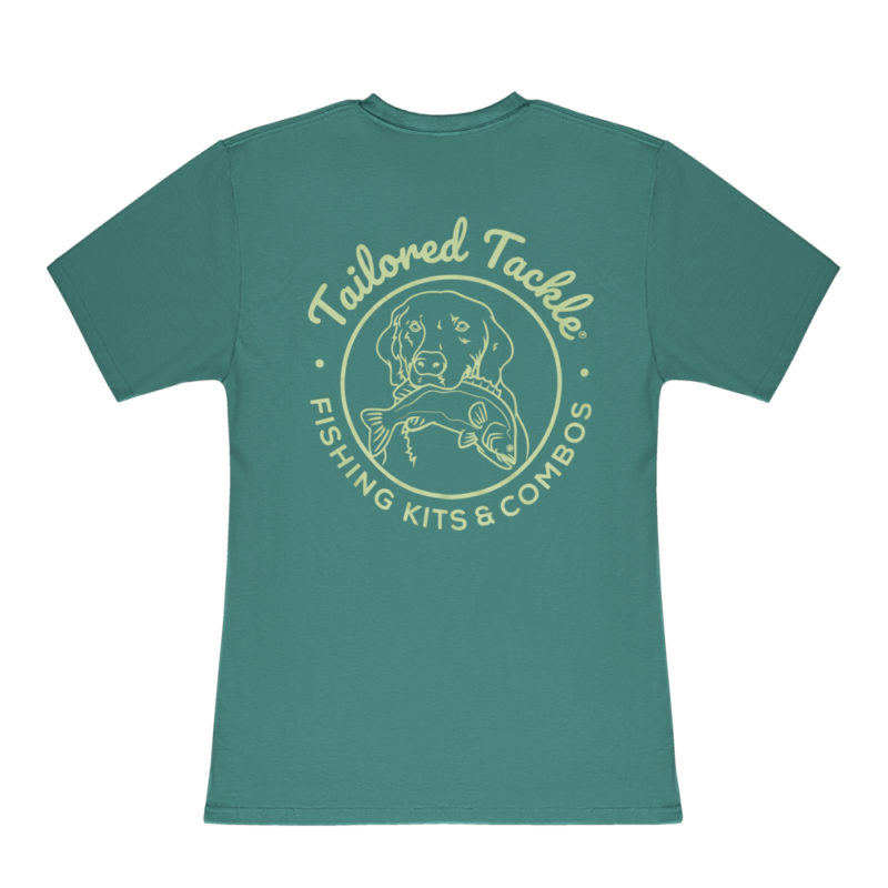 Tailored Tackle Bass Fishing Pocket Tee Palmetto Green Back