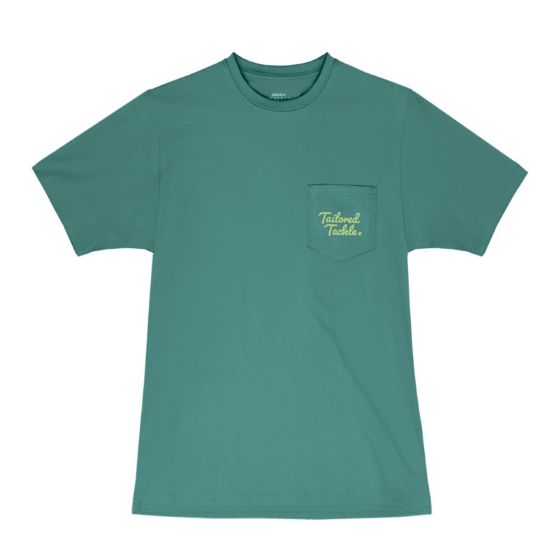 Tailored Tackle Bass Fishing Pocket Tee Palmetto Green Front