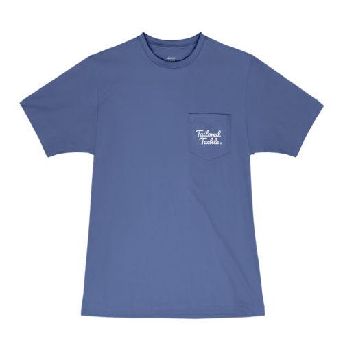 Trout Fishing Pocket Tee Navy Blue Mens