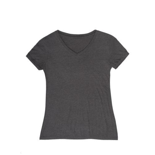V-Neck Fishing T-Shirt Black Frost Womens