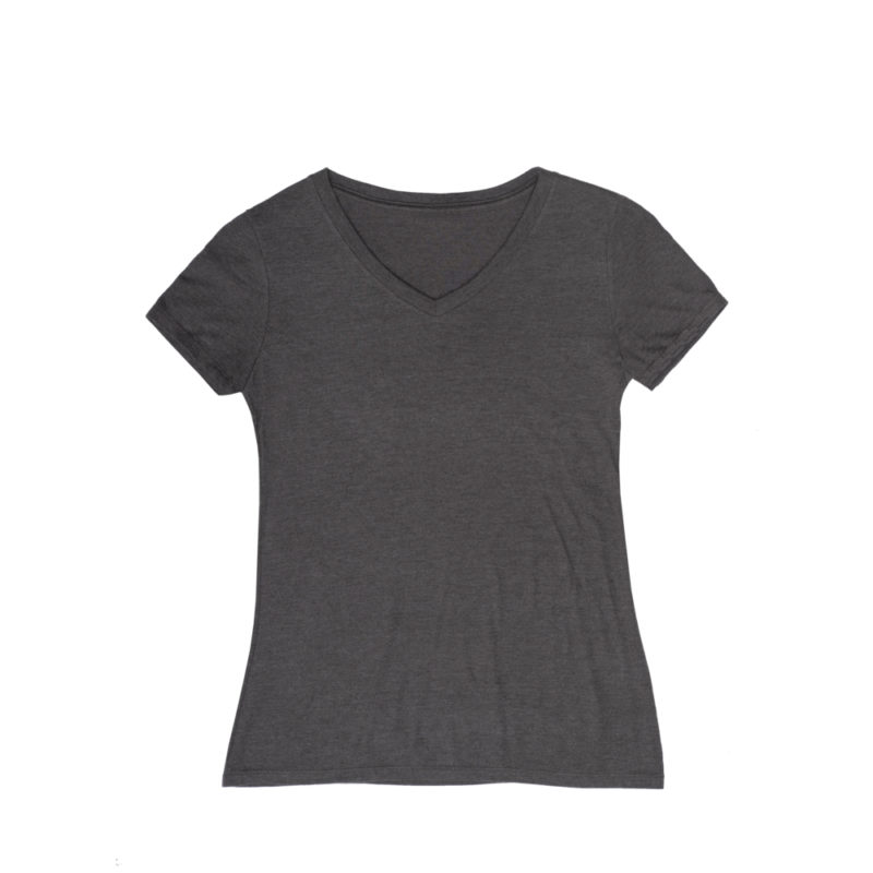 Tailored Tackle Womens V Neck Black Frost Front