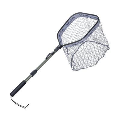Floating Shore Fishing Net for Freshwater Saltwater Kayak Telescopic Folding Fishing Net Deep Pocket Rubberized Mesh Fly Fishing Trout 1