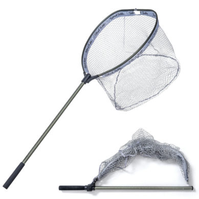 Large Floating Net Freshwater Saltwater Long Handle Fishing Net for Boat Rubber Mesh Pocket Telescopic Collapsible Folding 1