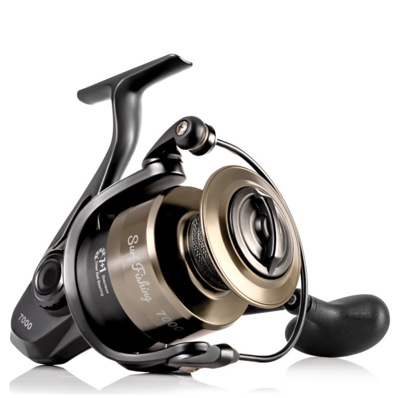 Tailored Tackle Surf Fishing Rod Reel Combo 10 Foot Ft Saltwater Rod 7000 Surf Reel Medium Heavy Moderate Fast 7